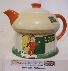 Shelley - Mabel Lucy Attwell Boo Boo Teapot in Perfect Condition - Temp Out Of Stock